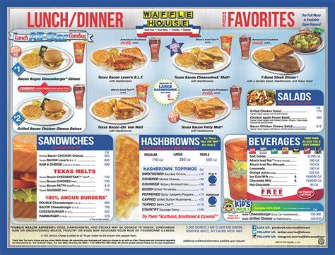 waffle house on american way waffle house menu waffle house