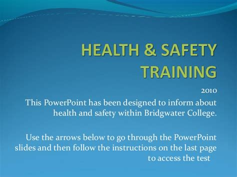 health safety induction training