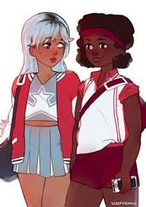 Steven Universe Sapphire and Ruby as Humans