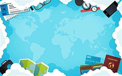travel poster background latar belakang perjalanan biru