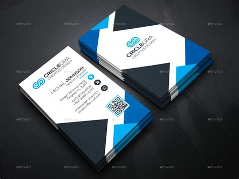 triangle business cards  generousart graphicriver
