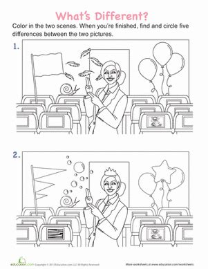 what is the difference between nursery school and preschool spot the differences in the aircraft cabin worksheet 450
