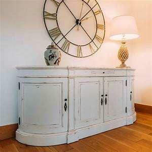 Aged, French, Distressed, White, Sideboard, Furniture