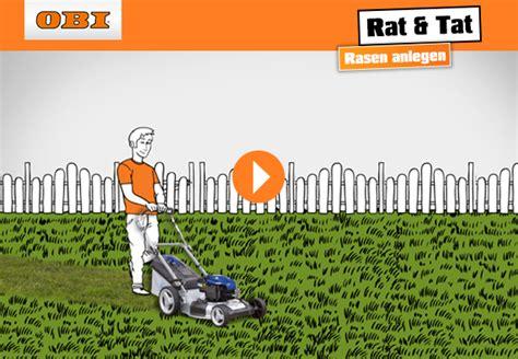 Rollrasen Pflege Im Frühjahr by Rasen Richtig Pflegen Obi Ratgeber