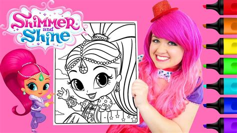Coloring Kimmi by Coloring Shimmer And Shine Shimmer Coloring Page