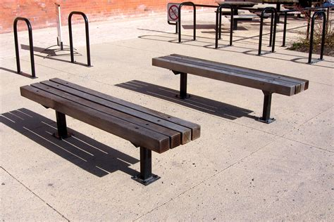 series d benches custom park leisure