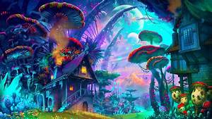 #fantasy art, #drawing, #nature, #psychedelic, #colorful ...