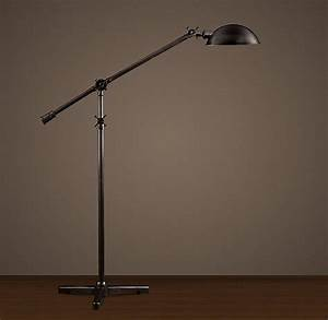 Restoration hardware floor lamp for the home pinterest for Floor reading lamp restoration hardware