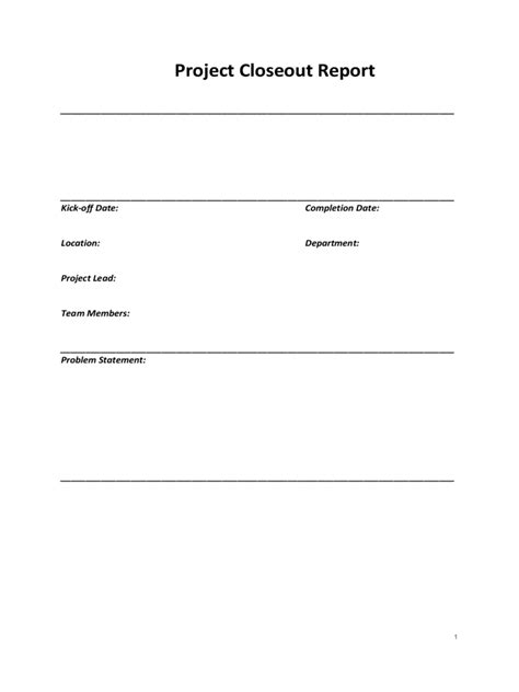 project closeout template   templates   word