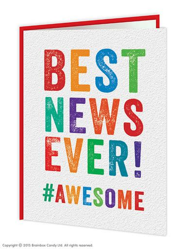 New Best Best News Congrats Congratulations Card