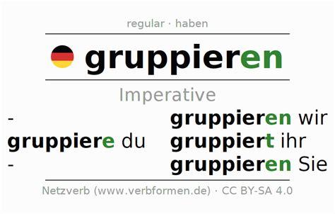 gruppieren imperative verb pdf word rules