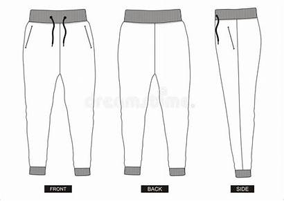 Template Pants Shorts Vetor Pant Ontwerp Vectormalplaatje