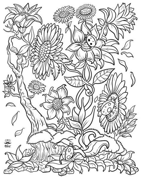 floral fantasy digital version adult coloring book
