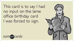 Happy Birthday Coworker Singing Office Funny Ecard ...