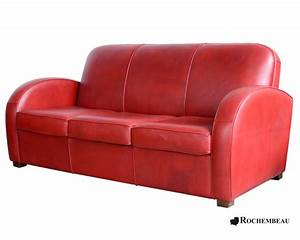 newcastle club sofa club sofa in top grain leather With canapé rouge