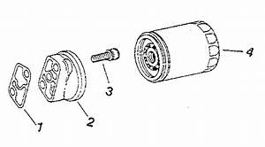 Oil Filter Diagram  U0026 Parts List For Model M18s24665 Kohler