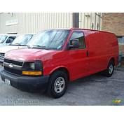 2003 Chevrolet Express 1500 Cargo Van In Victory Red
