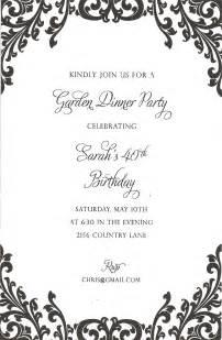 Black and White Wedding Invitation Border