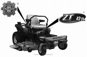 Gravely 915164  035000 -   Zt Xl 54 Parts Diagram For Decals