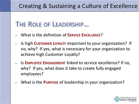 Is Excellent Customer Service Definition by Creating A Culture Of Service Excellence