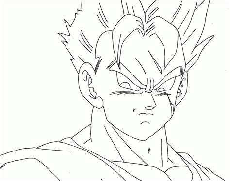 Future Gohan Free Coloring Pages