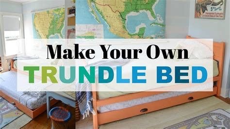 diy trundle bed youtube