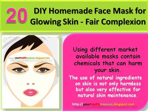 diy homemade face mask  glowing skin fair