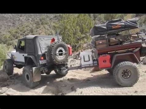 Off Road Trailers In Back Country Of Nevada Youtube