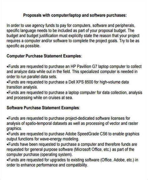 purchase proposal templates  google docs ms