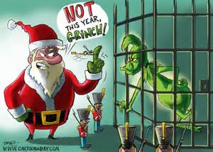 Grinch Cartoon Santa