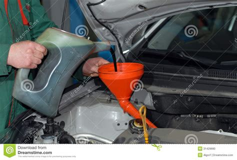 Adding Oil To A Car Stock Photo. Image Of Filter, Engine
