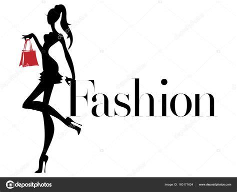 black  white fashion woman silhouette  red bag