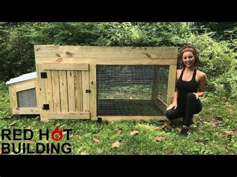 chicken coop red hot building youtube