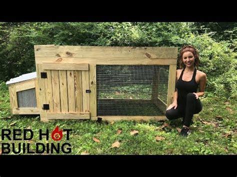 chicken coop red hot building youtube