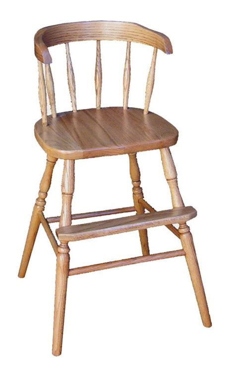 amish hardwood wrap around youth chair