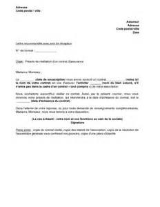 Résiliation Contrat Assurance Vie by Resiliation D Assurance Auto