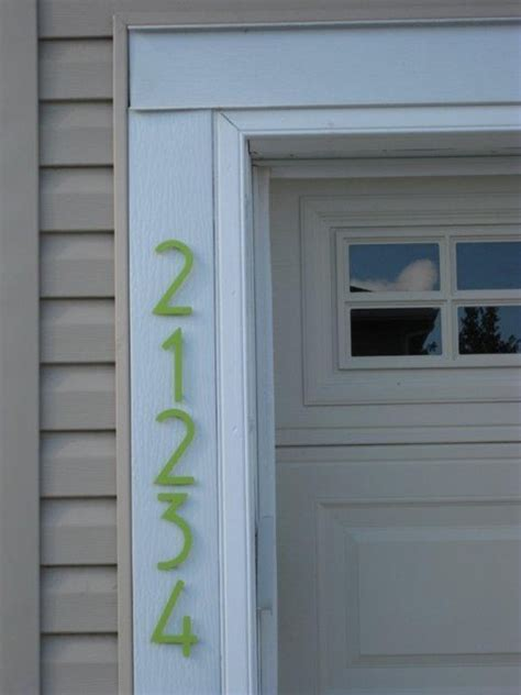 Key Lime Bungalow Style House Numbers  Modern Entry