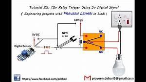 12v Relay Trigger Using 5v Digital Signal   Tutorial 25