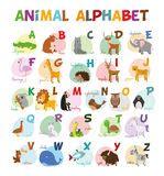 alphabet mit bildern fuer kinder vektor abbildung bild