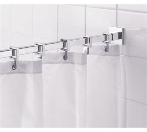 buy croydex square shower curtain rod and rings chrome