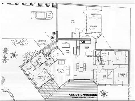 maison plein pied 4 chambres plan de maison plein pied 4 chambres gratuit plan de