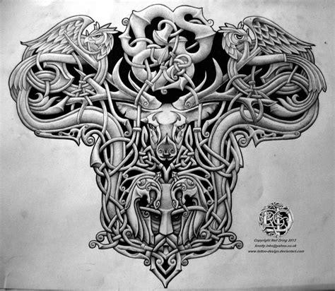 Celtic warrior men tattoo design - Tattoo Design Ideas