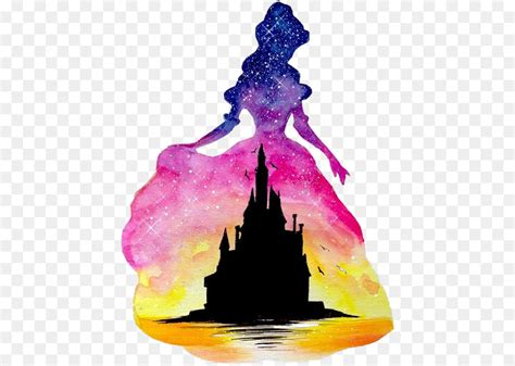 aurora belle ariel disney princess watercolor painting