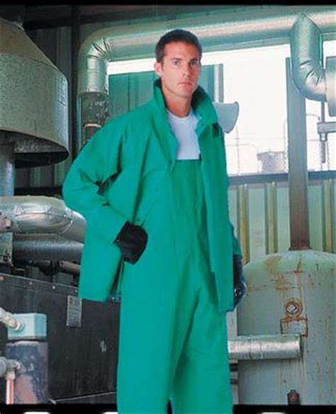 polyester rain suit chemical protective clothing