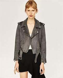 Veste En Daim Grise : giacche in pelle zara moda donna primavera 2017 ~ Melissatoandfro.com Idées de Décoration