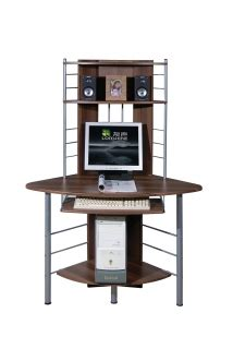 tall corner computer desk dark computer desk buy tall dark walnut corner computer desk