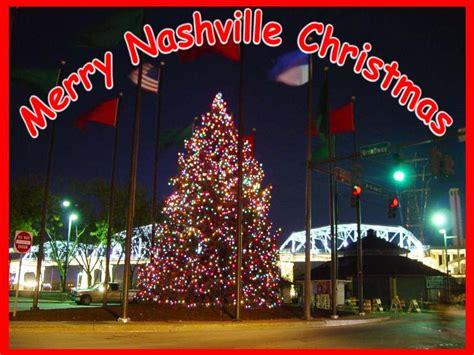 nashville christmas tree in riverfront park photo chip