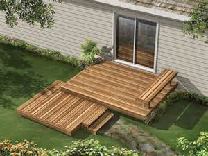 tiered ground level deck small yard and garden ideas