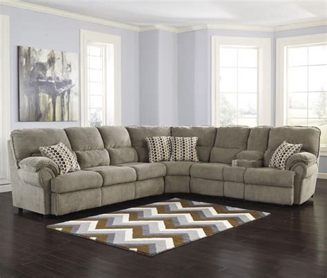 Sectional Sleeper Sofa Recliner by Signature Design By Comfort Commandor Mocha