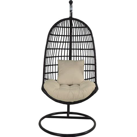 patio heaven bird s nest swing chair with stand